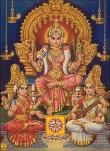 Durga, Lakshmi & Saraswathi